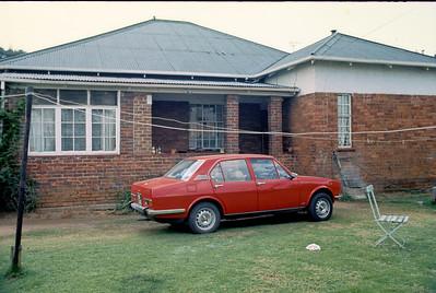 1976 - Witbank - Hilda's childhood home The car is my Alfa-Romeo Alfetta