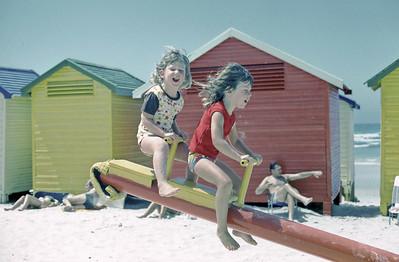 Summer 1974 - Muizenberg, South Africa - Karen and Lisa