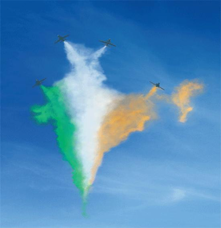 Indian map designed by air force