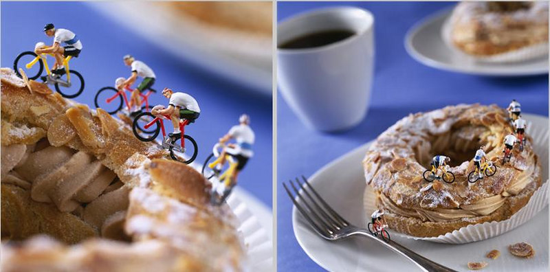 Mountain biking on a pastry