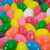 Easter jelly beans close up