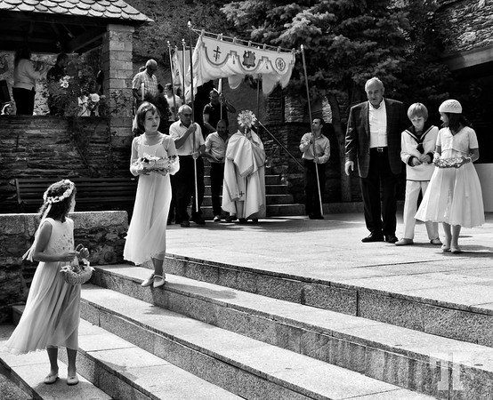 Communion in Andorra  I had the chance to watch this communion of 4 children, yesterday (Sunday) in a small village in Andora -   *I thought to convert it to B&W