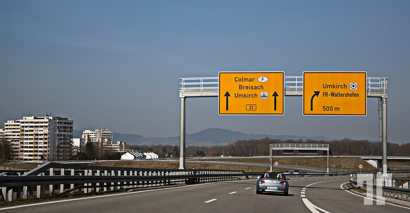 Road sigs in Alsace, France