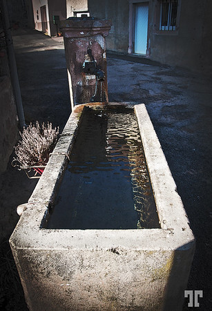 March 07, 2011  Water fountain in Alsace  made from concrete (xx)