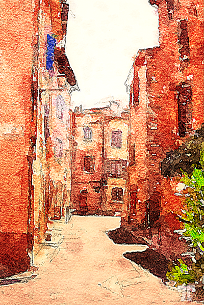provence-street-watercolor