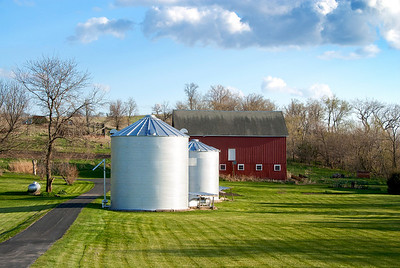 This photo of rural Iowa is a great late afternoon photo with some great color contrast