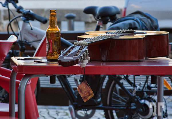 Guitar and beer