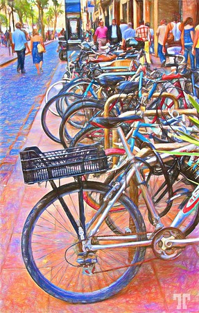 Barcelona-bikes-coloredpencil_Original_1
