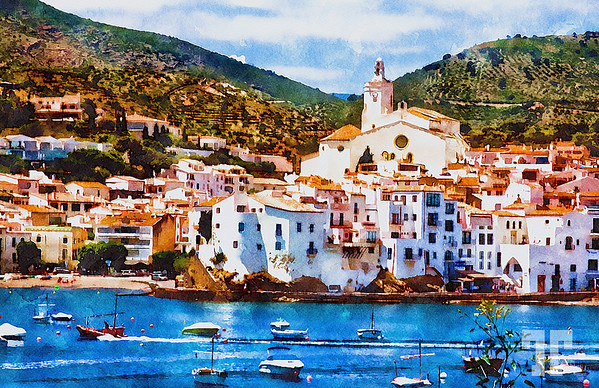 Cadaques-spain-watercolor