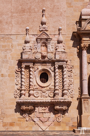 Poblet-monastery-entrance-architectural-decor-detail