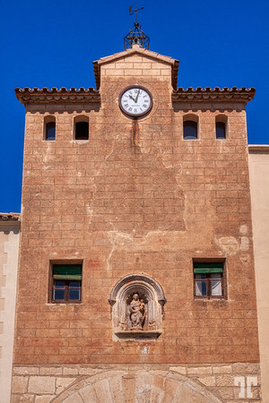 Clock-tower-Poblet-taragona-spain