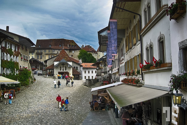 Gruyere village main plaza