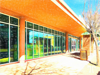 Douglas-library-Arizona-ColoredPencil