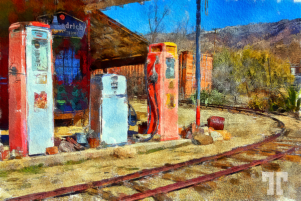 Chloride -wild-west-gas-station-watercolor-au