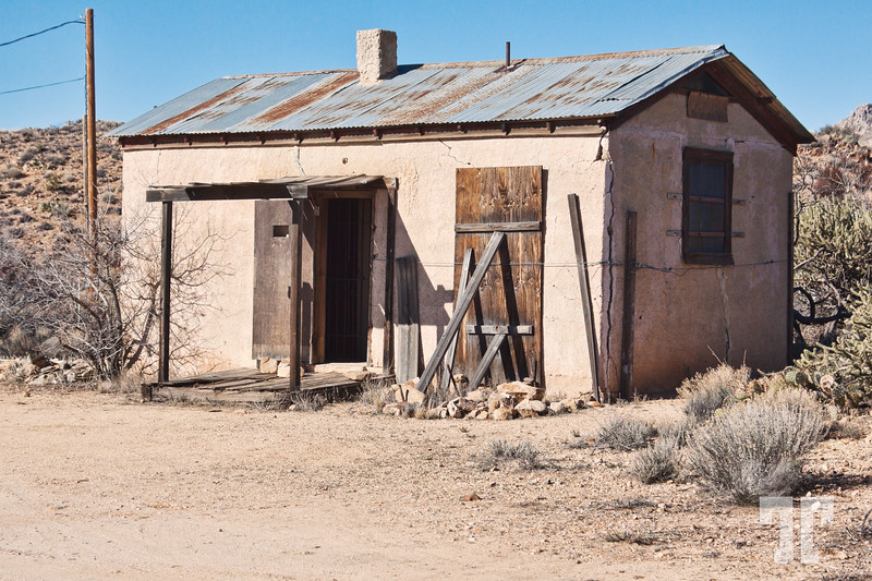 Old prison in Chloride, Arizona on Route 66