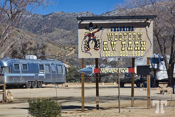 Chloride RV park sign