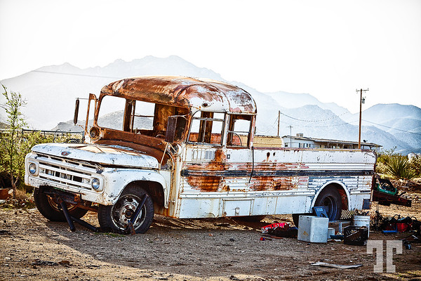 Old rusty truck and junk
