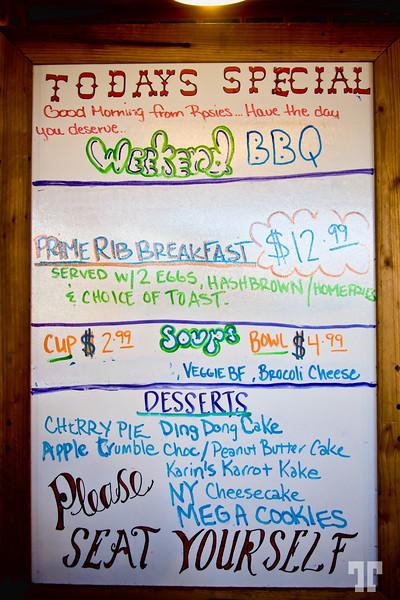 menu-sign-rosie's-ben-pub-route66