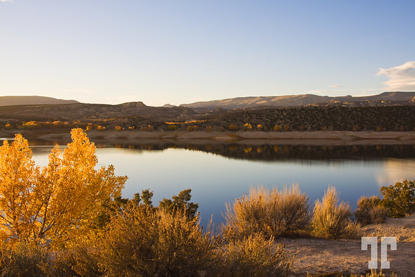 Fall collors at Flaming Gorge Reservoir, Utah