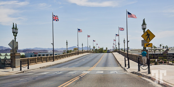 Crossing the London Bridge at Havasu City, Arizona