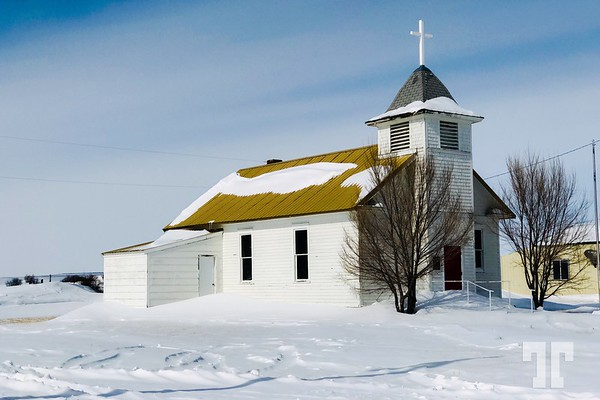 Small church, Shawmut, Montana, March