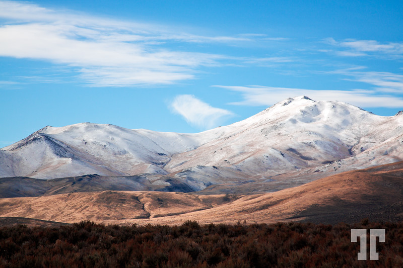 Snowy mountains in Nevada