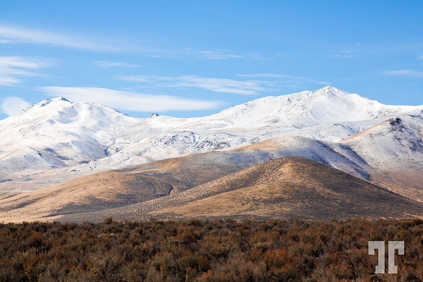 North Nevada mountains covered by snow
