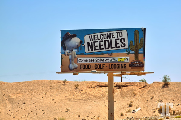 Welcome to Needles, California Sign on Route 66