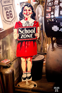 Vintage school zone sign