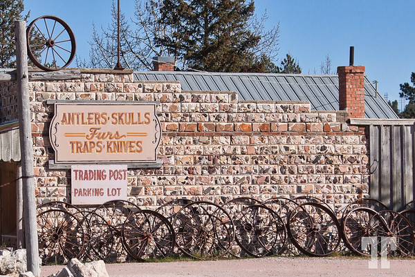 Trading post in Custer, South Dakota - sign