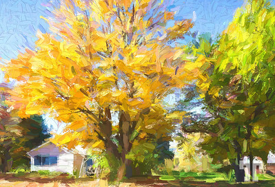 Forester-village-michigan-2-painting