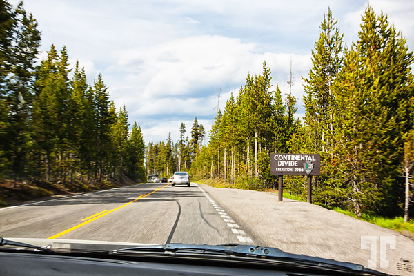 Continental Divide in Yellowstone National Park
