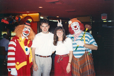 Floyd and Jo with Clown Clowns in Vegas