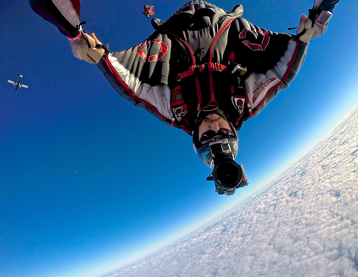 Head down wingsuit flight