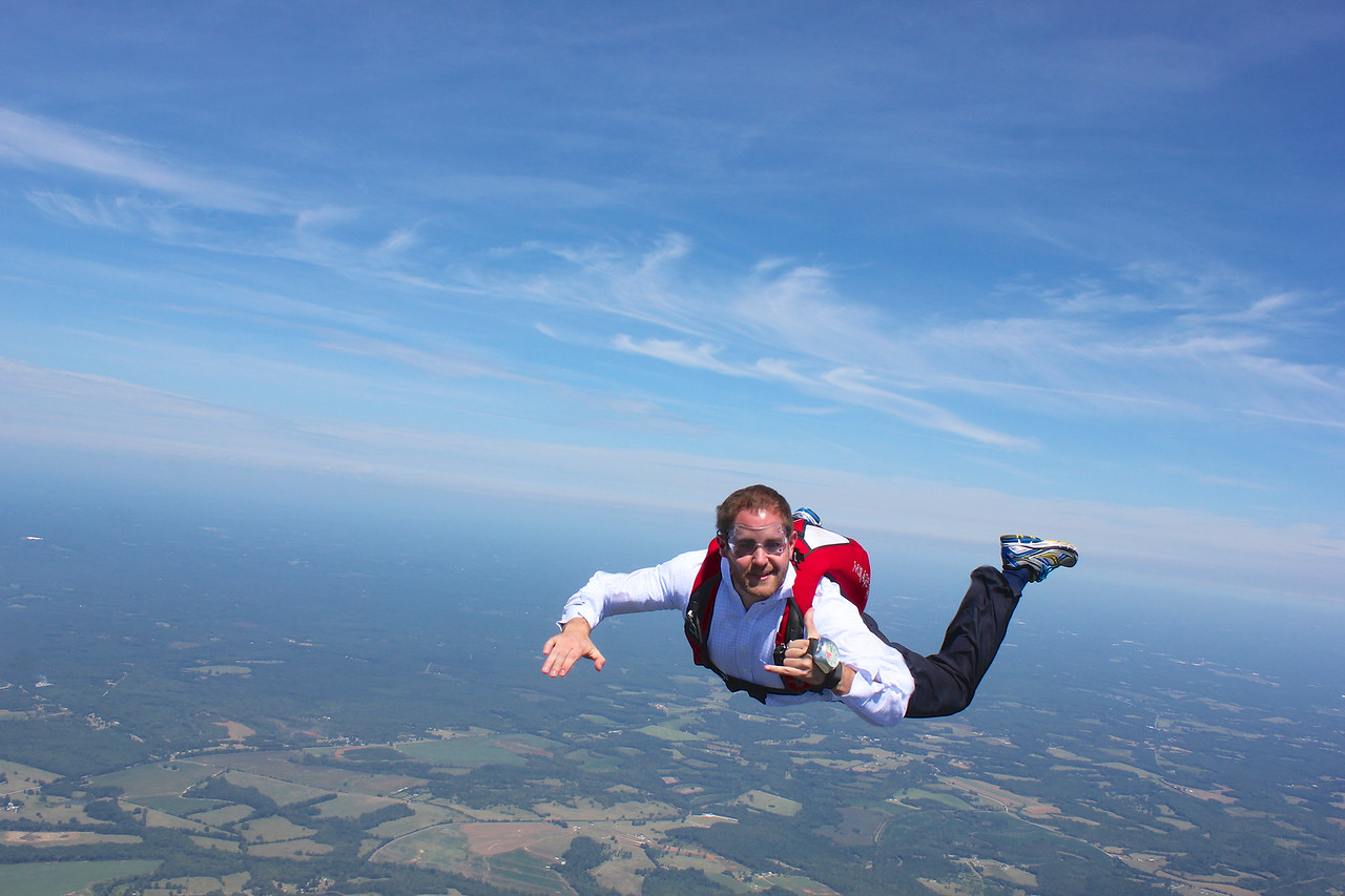 Stunt work for Paycor over Skydive Carolina