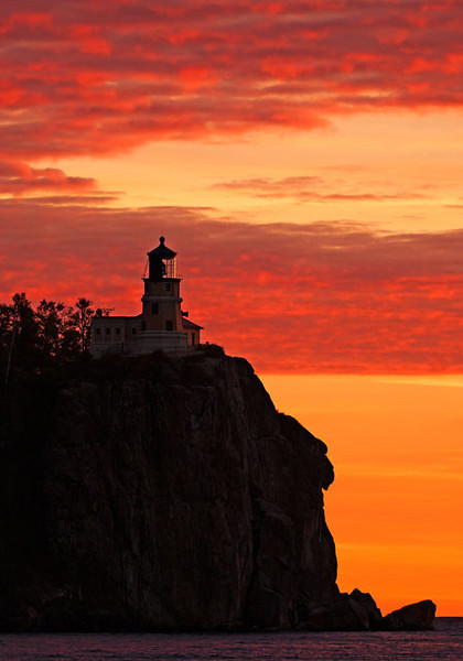 Split Rock Lighthouse is a few miles south of Tettegouche State Park.  The lighthouse is celebrating its 100th Anniversary this year.  I went there one morning and photographed it at sunrise.