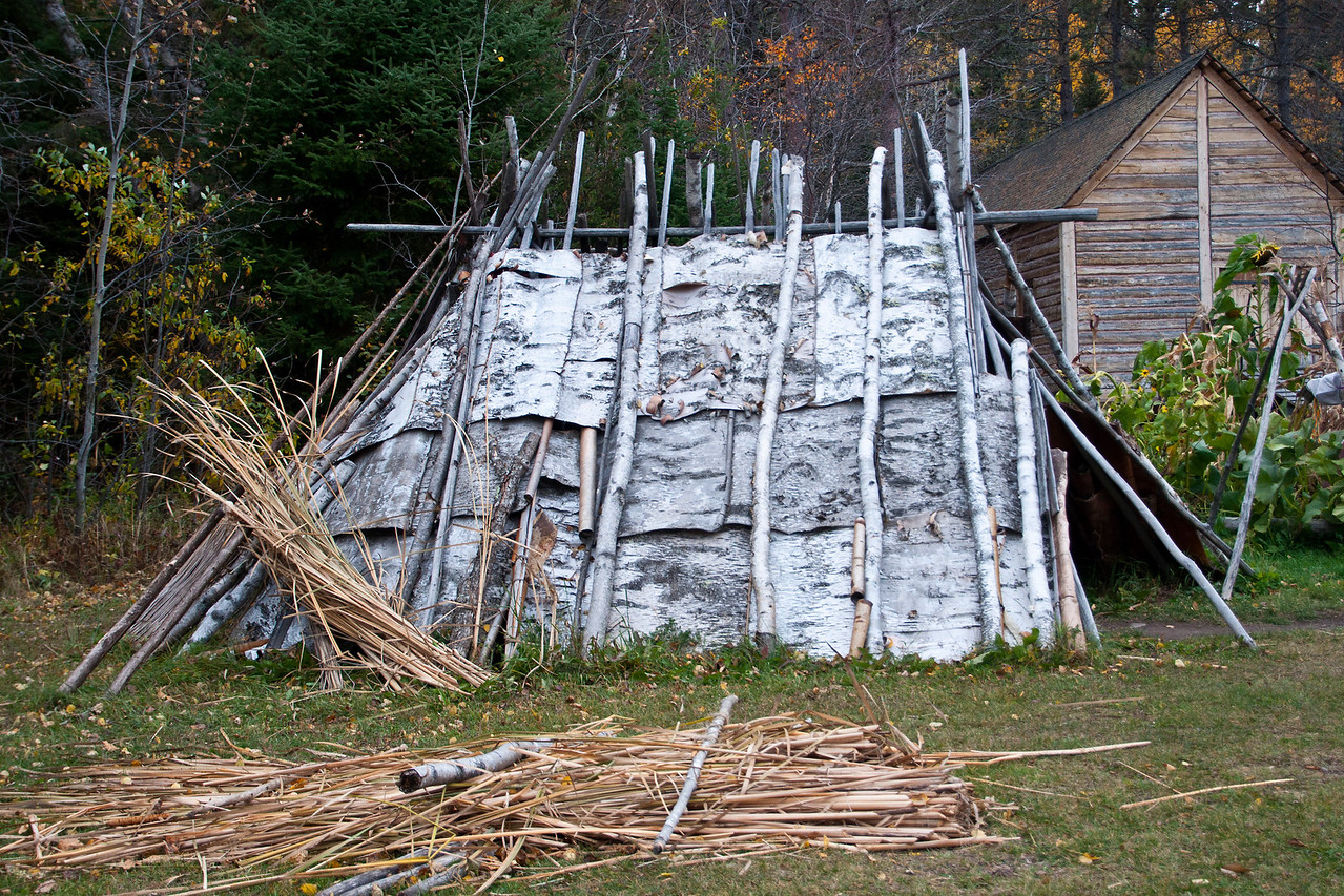 Our North House Folk School Photography Class traveled almost to the Canadian border to visit Grand Portage National Monument.  When we entered the grounds of the National Monument the first thing we saw was this birch bark wigwam.