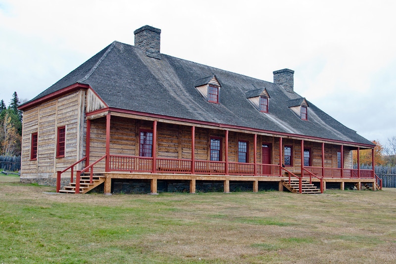 Grand Portage was a trading post and this is a replica of the Great Hall.  It was a gathering place for the traders and Native American people who met here to do business.
