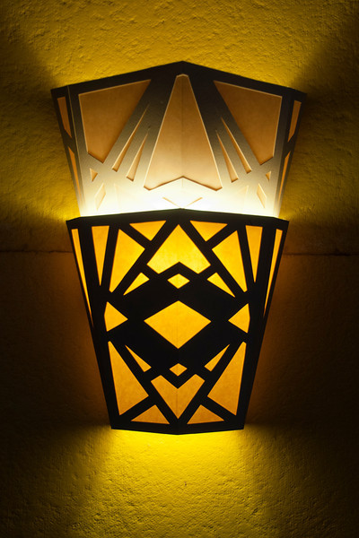 This is one of the lights along the side walls.