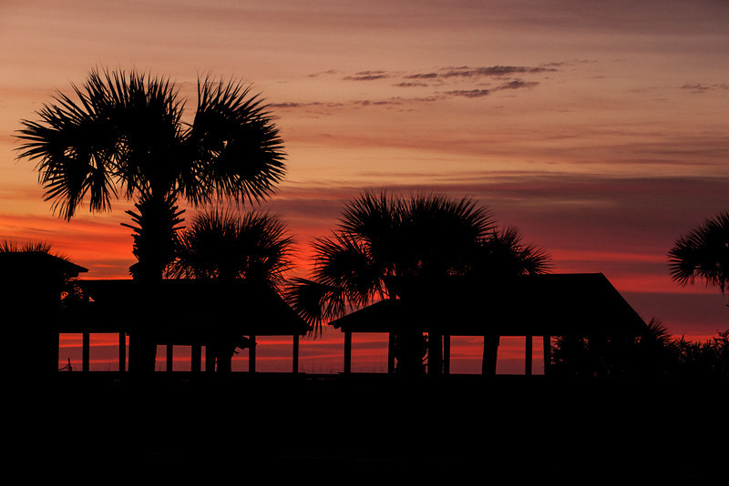 Here's another photo from the same morning showing the park area next to the lighthouse on St. George Island.