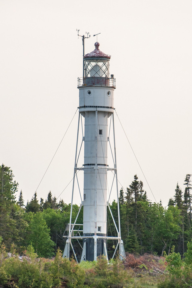 Several lighthouses are located on the Apostle Islands.  This one, on Devil's Island, is not very elaborate but served the purpose of guiding boats through the channels between islands.