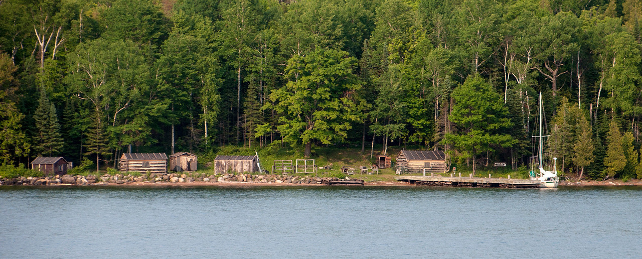 This is what remains of an old-time fishing camp on Manitou Island.