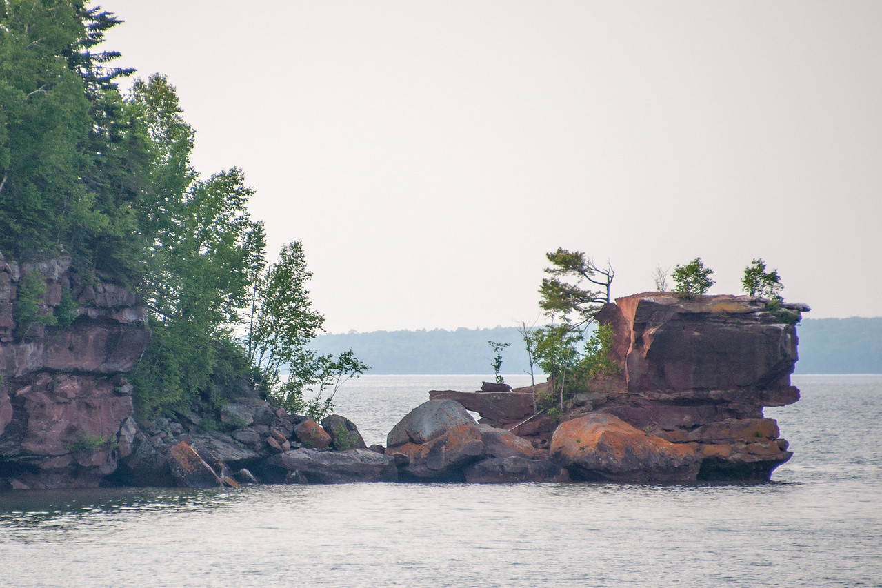 One of the first islands we passed was Basswood Island.  This large block of sandstone lies off the north end of the island and is named Honeymoon Rock.  I did a lot of searching but still haven't found how it got that name.