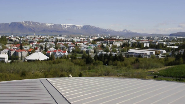 """Here's a video taken from the observation deck at The Pearl.  It's a panoramic view of Reykjavik.  Click on the arrow to view the video.  When it finishes, click on the word """"Close"""" in the upper right to return to the photo."""