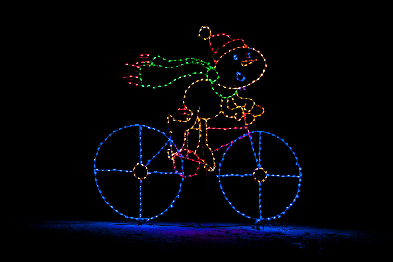Sports seemed to be a theme of this year's displays.  Bicycling was represented by this colorful figure.