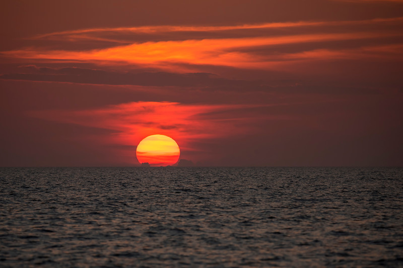 One night I stayed out until dark photographing Terns.  I was rewarded with this beautiful view of the sun setting over the Gulf of Mexico.
