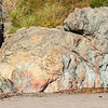 This was one of the more colorful rocks at the base of the cliff along the ocean shoreline.
