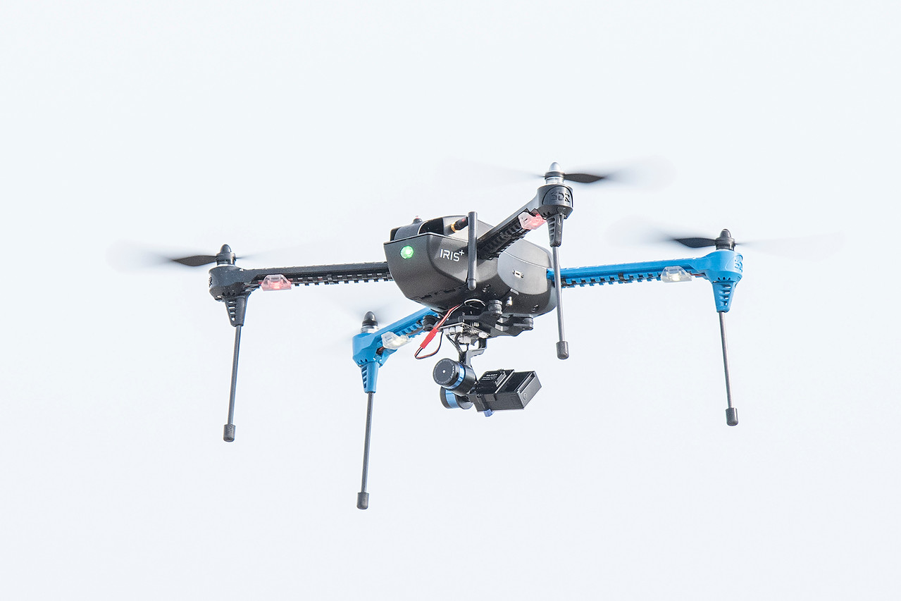 As might have been expected, someone was using a drone to record the event.