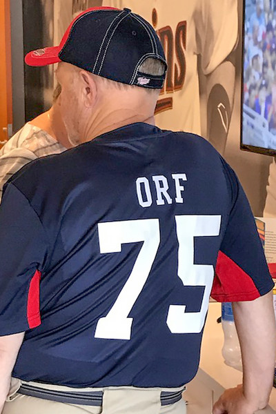Diana surprised me with a special, one-of-a-kind, personalized Twins jersey.