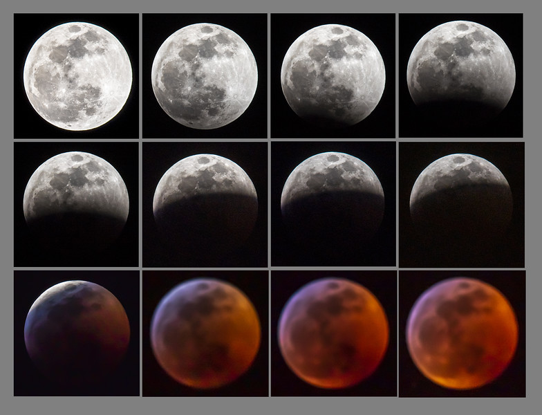 "Here's a composite view of the eclipse from beginning to full.  These photos were taken about 10 minutes apart.  I planned to finish taking the last half of the eclipse but was having too much difficulty because the Moon was directly overhead.  I did get a full set of Moon eclipse photos in 2015.  Here's a link to that set of shots.  <br /> <br /> <a href=""https://www.earlorfphotos.com/Pictures-of-the-Week/2015-Pictures-of-the-Week/Oct-4-2015-Lunar-Eclipse/"">https://www.earlorfphotos.com/Pictures-of-the-Week/2015-Pictures-of-the-Week/Oct-4-2015-Lunar-Eclipse/</a>"